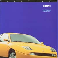 Fiat Coupe preview brochure